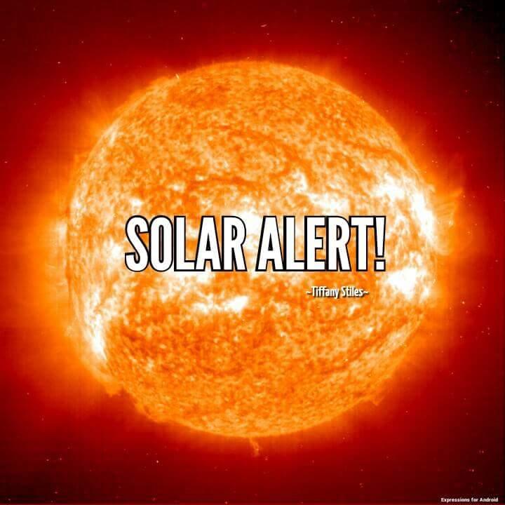 ~SOLAR ALERT~!!  December 31st, 2015 (1/3)