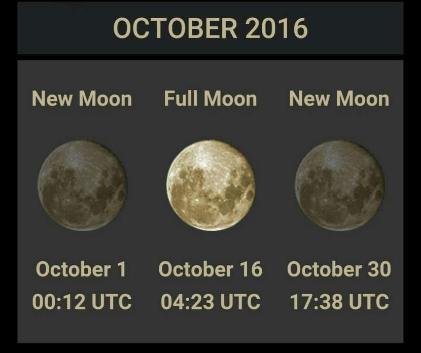 October 2016 Energy Shift~ Two New Moons/Full Moon ~ Dark Moon Positive Manifestations! by TiffanyStiles